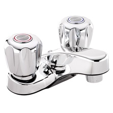 "Bathroom sink faucet, polished chrome, 2-Handle, 4"" centerset, 3063"