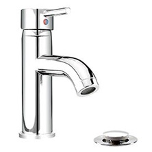 H2flo SOURCE Bathroom sink faucet Single Hole With Presto Drain Polished Chrome