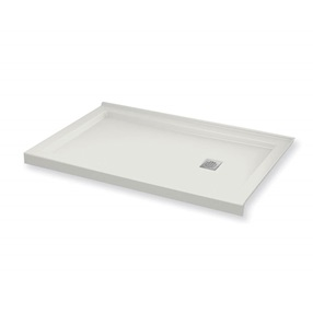 B3square White Acrylic 30 X 60 Right Drain Shower Base