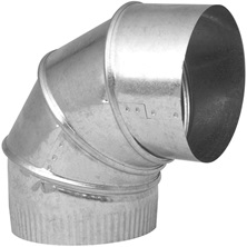 "Adjustable Galvanized Elbow 6"" x 90° 28G"