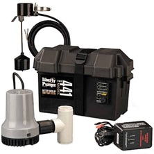 Submersible Pump 12VDC Battery Battery Back-Up Emergency Sump