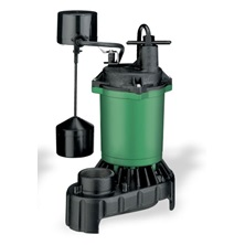"1/3HP Submersible Sump Pump Vertical Float 115Volt 1-1/2""NPT Discharge Thermoplastic"